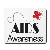 Butterfly AIDS Awareness Mousepad