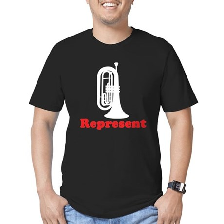 Marching Band Baritone Represent Men's Fitted T-Sh