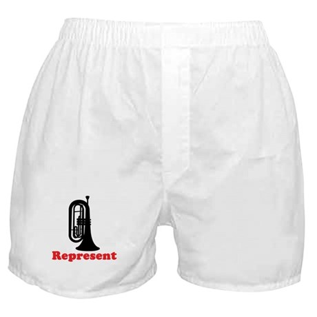 Marching Band Baritone Represent Boxer Shorts