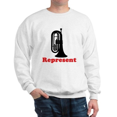 Marching Band Baritone Represent Sweatshirt