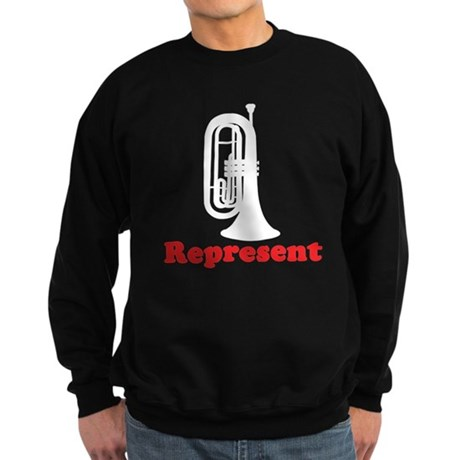 Marching Band Baritone Represent Sweatshirt (dark)