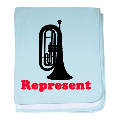 Marching Band Baritone Represent baby blanket