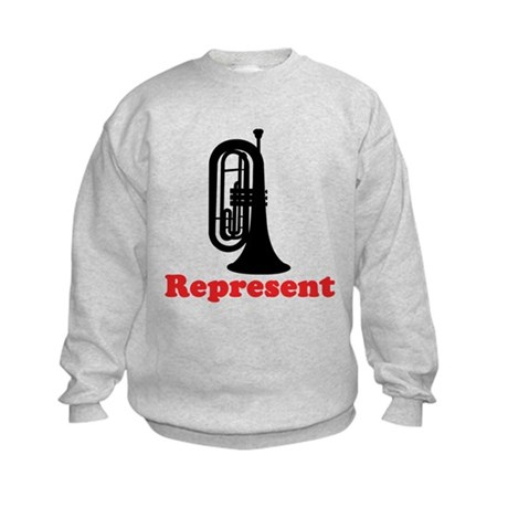 Marching Band Baritone Represent Kids Sweatshirt