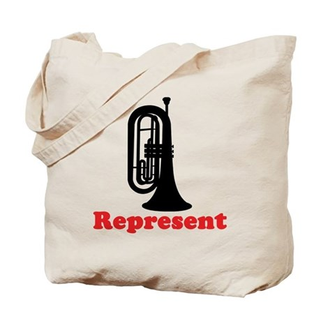 Marching Band Baritone Represent Tote Bag