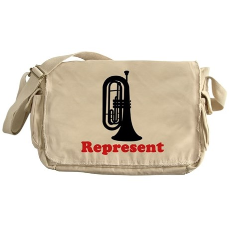 Marching Band Baritone Represent Messenger Bag
