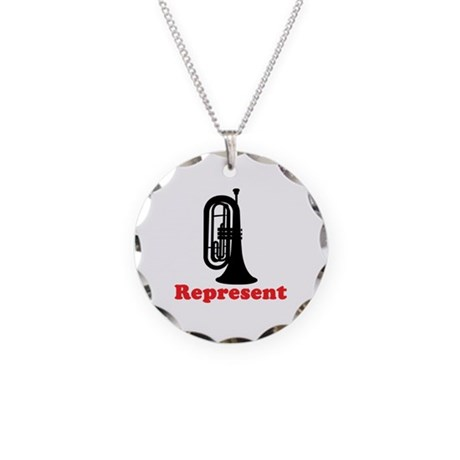 Marching Band Baritone Represent Necklace Circle C
