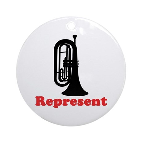Marching Band Baritone Represent Ornament (Round)