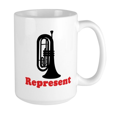 Marching Band Baritone Represent Large Mug