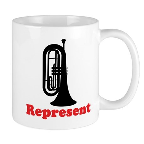 Marching Band Baritone Represent Mug