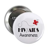 "HIV/AIDS Awareness Butterfly 2.25"" Button"
