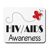 HIV/AIDS Awareness Butterfly Mousepad