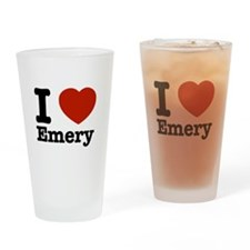 I love Emery Drinking Glass