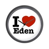 I love Eden Wall Clock