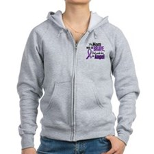 Angel 1 Pancreatic Cancer Zip Hoodie