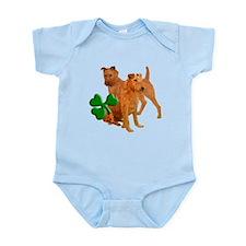 Irish terriers with shamrock Infant Bodysuit