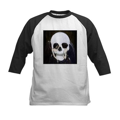 Skull Illusion Kids Baseball Jersey