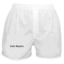 Court Reporter Boxer Shorts