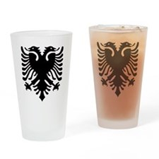 Albania Eagle Drinking Glass