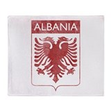 Vintage Albania Throw Blanket