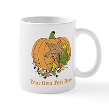 Pumpkin with Orange Text. Mug