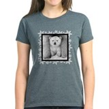 Polar Bear Cub Xmas Snowflakes Tee