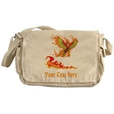 Phoenix and Custom Text. Messenger Bag