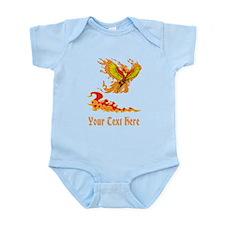 Phoenix and Custom Text. Infant Bodysuit