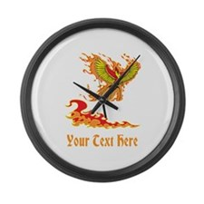 Phoenix and Custom Text. Large Wall Clock