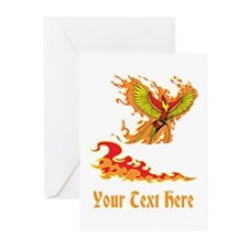 Phoenix and Custom Text. Greeting Cards (Pk of 20)