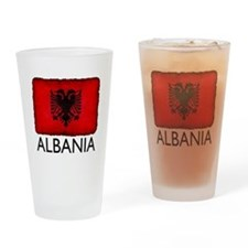 Grunge Albania Drinking Glass
