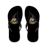 Australia Coat Of Arms Flip Flops