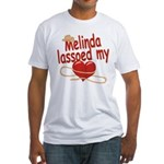 Melinda Lassoed My Heart Fitted T-Shirt
