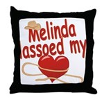 Melinda Lassoed My Heart Throw Pillow