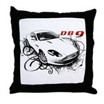 Aston Martin DB9 Throw Pillow