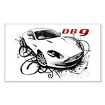Aston Martin DB9 Sticker (Rectangle)