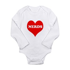 Big Heart Nerds Long Sleeve Infant Bodysuit