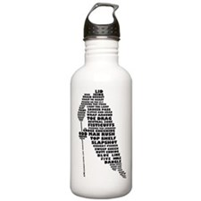 Language of Hockey (skater) Sports Water Bottle