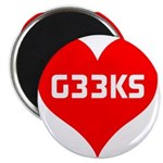 Big Heart G33ks Magnet