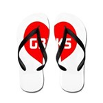 Big Heart G33ks Flip Flops