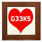 Big Heart G33ks Framed Tile