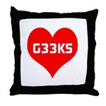 Big Heart G33ks Throw Pillow