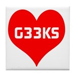 Big Heart G33ks Tile Coaster