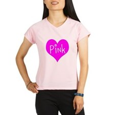 I Heart Pink Performance Dry T-Shirt