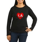 Big Heart LA Women's Long Sleeve Dark T-Shirt