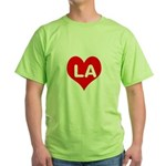 Big Heart LA Green T-Shirt