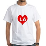 Big Heart LA White T-Shirt
