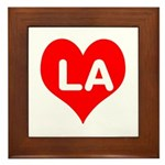 Big Heart LA Framed Tile