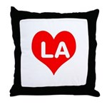 Big Heart LA Throw Pillow