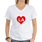 Big Heart LA Women's V-Neck T-Shirt