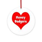 Big Heart Honey Badgers Ornament (Round)